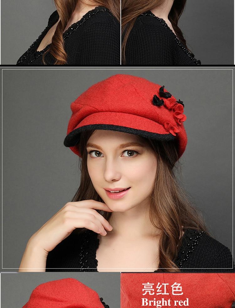Charles Perra Marca Mulheres Boina Chapéu de Outono Inverno Feminino e  Elegante Senhora Moda Chapéus Fedoras Gorro de Lã Quente Corros Corro 7220 4cb7d2a8b47