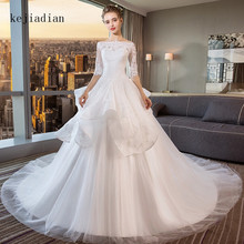 kejiadian Vintage 2019 Arabic Wedding Dresses A Line