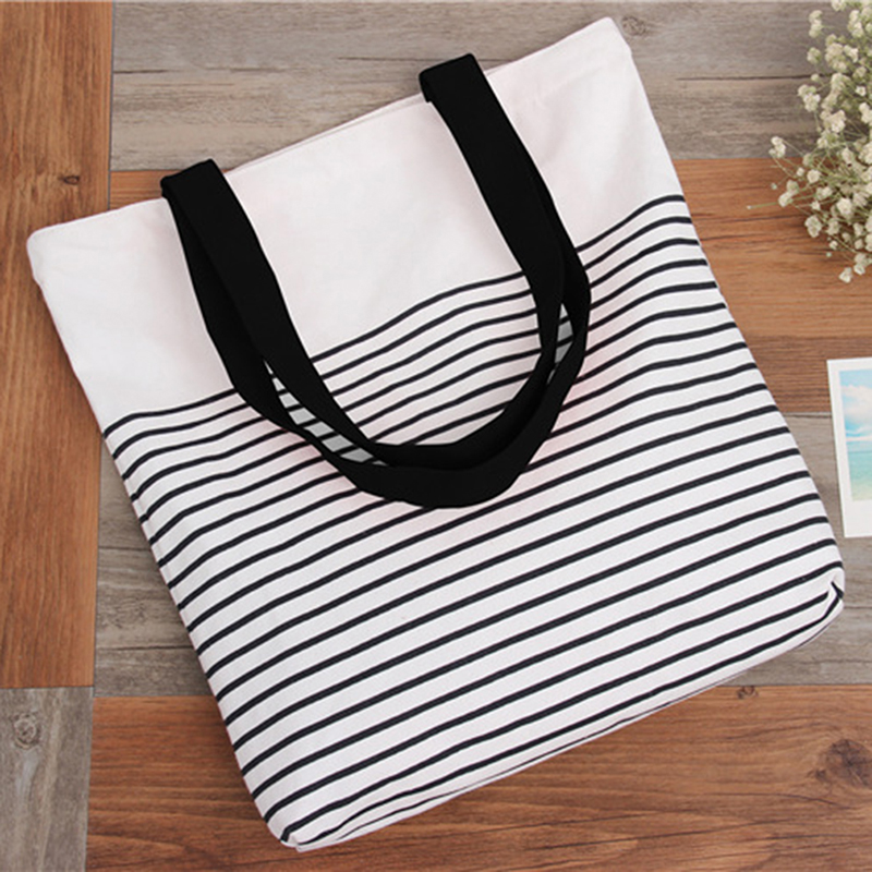 <font><b>2018</b></font> New Summer <font><b>Women</b></font> Canvas bohemian style striped <font><b>Shoulder</b></font> Beach <font><b>Bag</b></font> Female Casual Tote Shopping <font><b>Big</b></font> <font><b>Bag</b></font> Messenger <font><b>Bags</b></font> image