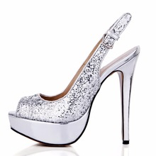 New style Glitter bling open Peep Toe woman sexy dress wedding prom wine party shoes sandals silver and pink 3463B-v