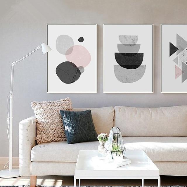 Nordischen stil geometrie grafik malerei poster, abstraktes muster ...