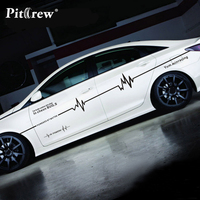 Car Stickers Electrocardiogram Lines Decals Decorative For Whole Body Cyter Auto Tuning Styling Waterproof Exterior Accessories