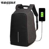 RDGGUH Canvas Men Capacity Backpack Burglar USB Charger Notebook Business Neutral Backpack Waterproof Ladies Travel Backpacks