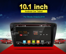 Quad core Android 6.0 2din in dash 1024*600 for SKODA OCTAVIA 2014 10inch touch screen BT,WIFI,DAB,OBD,SWC,Navigator
