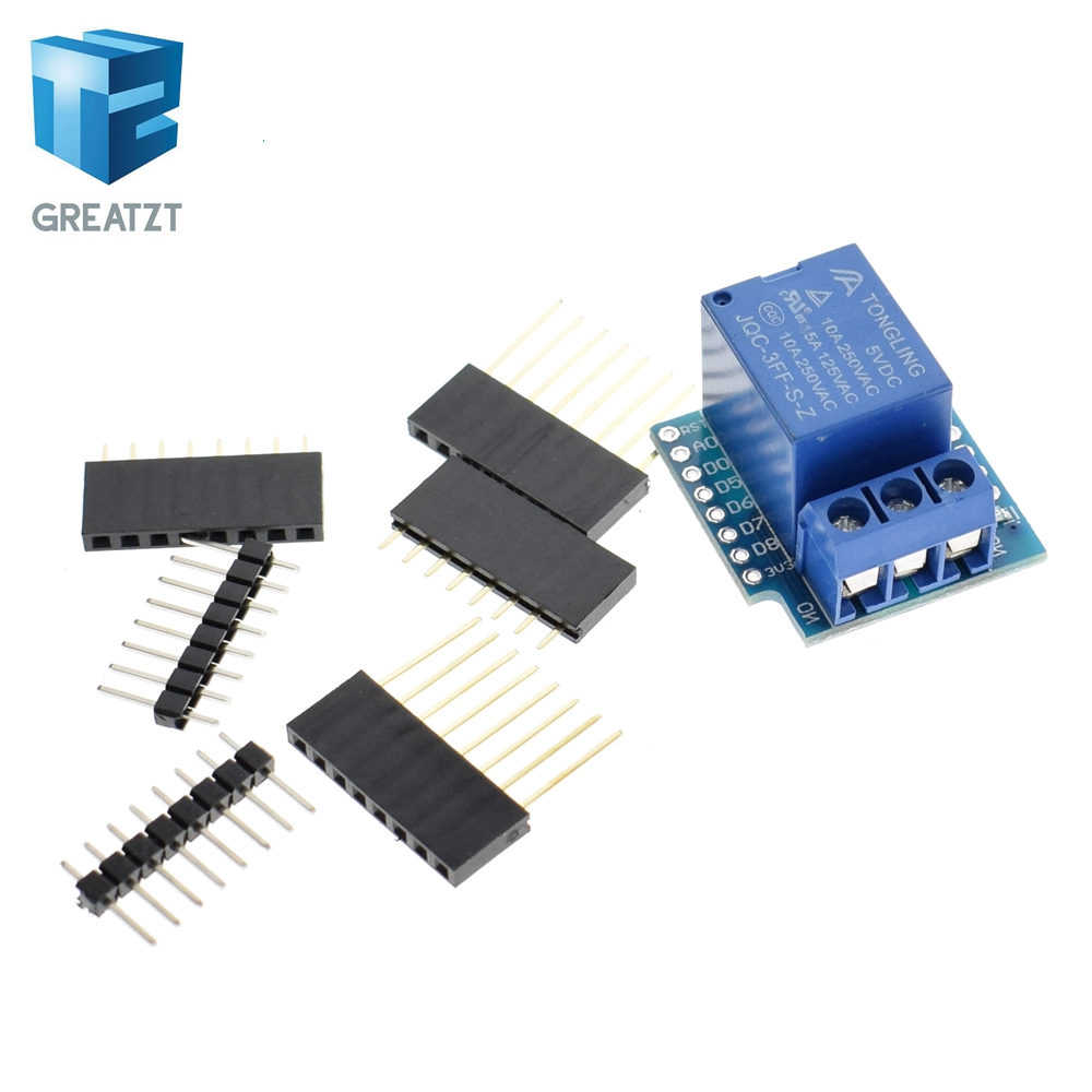 1 channel Relay Shield for Wemos D1 mini Relay Module Smart Electronics