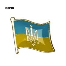 Ucrânia bandeira lapela pino emblemas para roupas em remendos rozety papierowe ícone mochila KS-0187