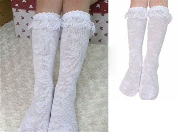 8a5b5ff8b New Girls Lace White Sock Baby Girl Knee Socks Children Kids Dance Wear  High Long Sock