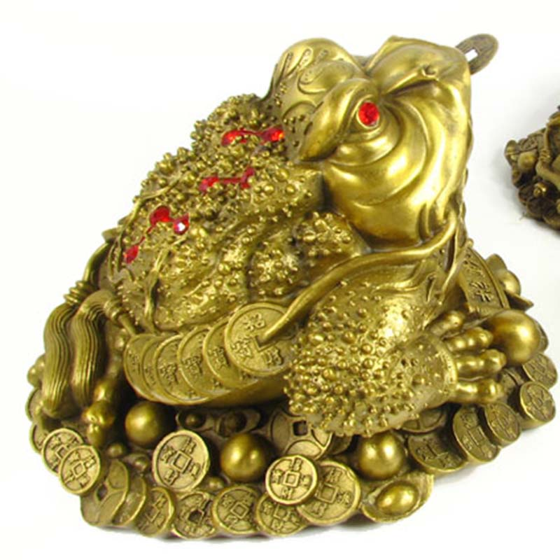 Pure copper Lucky gold toad Decoration home decoration business gift booming wealth of water products