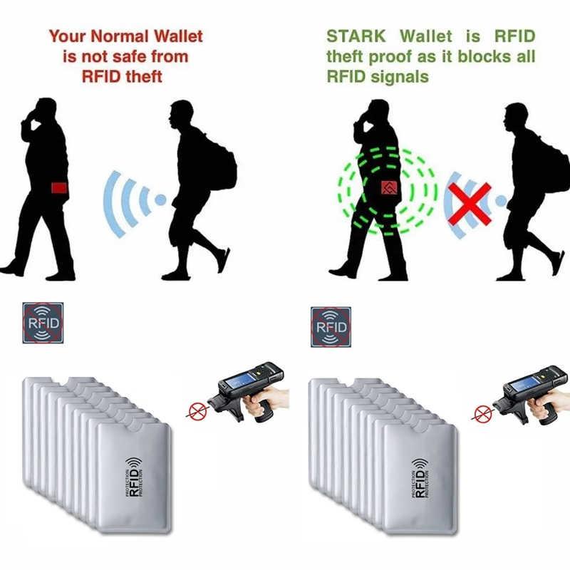 Анти RFID визитница NFC Блокировка считыватель Блокировка банковский идентификатор держатель для карт студенческие Симпатичные ID карты бумажник для паспорта Бизнес Bancaire чехол