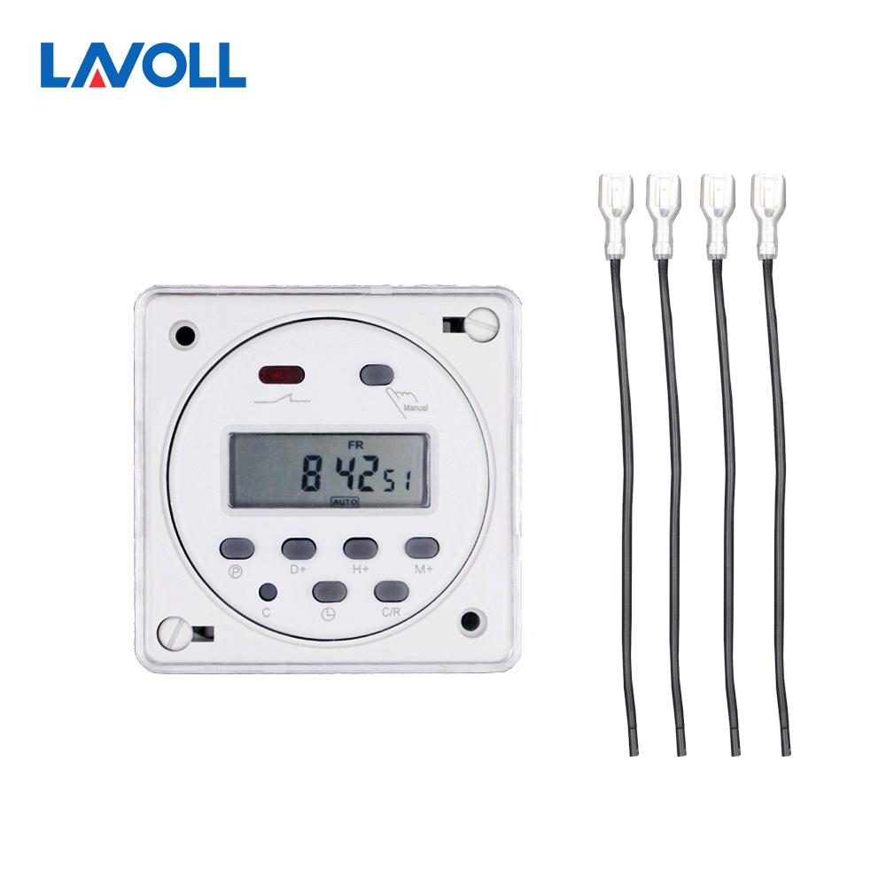 все цены на CN101A with cover 4 pcs wires timer relay light switch programmable timer digital timer swith with protective cover weekly