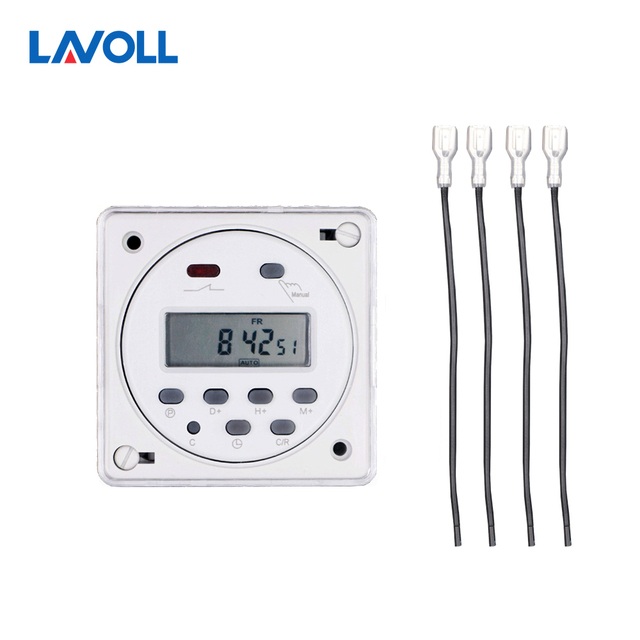 cn101a with cover 4 pcs wires timer relay light switch programmable timer  digital timer swith with protective cover weekly