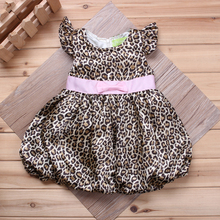 2016 summer Vestidos Baby Girl Dresses Princess Children Dress Lepord baby clothing Kids Girl Dress Brand Girls Clothes Costumes