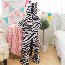 Photography Kid Boys Girls Party Clothes Pijamas Flannel Pajamas Child Pyjamas Hooded Sleepwear Cartoon Animal zebra Cosplay