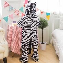 Photography Kid Boys Girls Party Clothes Pijamas Flannel Pajamas Child Pyjamas Hooded Sleepwear Cartoon Animal zebra Cosplay