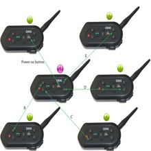 6 pcs E6 Helmet Intercom 6 Riders 1300M Motorcycle Bluetooth 3 0 Intercom Headset Walkie Talkie