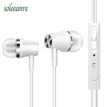 New Music Earphones Sport Stereo Earbuds Deep Base Noise-proof Earpieces with Mic for iOS Android Huawei P8 P9