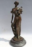 """Darmowe 12 """"Western Art rzeźba Z Brązu Statua Marmur Belle Kobiety Dziewczyna Wazon Doniczka szybka w Posągi i rzeźby od Dom i ogród na"""