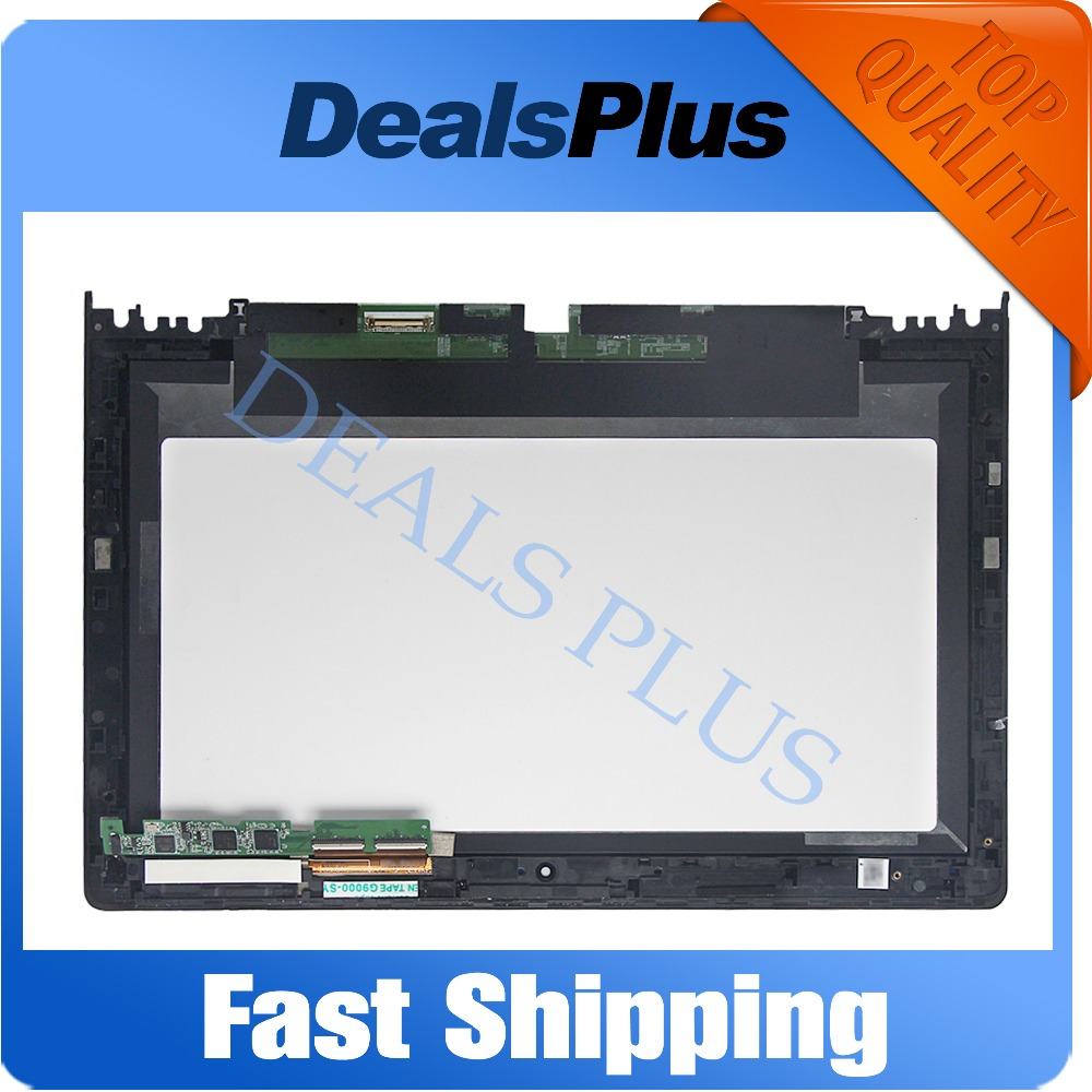Replacement New LCD Display Touch Screen with Frame Assembly For Lenovo Ideapad Yoga 11s 1366x768 11.6-inch Free Shipping for lenovo vibe x2 lcd display touch screen digitizer assembly with frame free shipping track number
