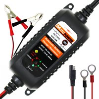 12V 800mA Fully Automatic Smart Battery Charger Maintainer For Cars Motorcycles ATVs RVs Powersports Boat And
