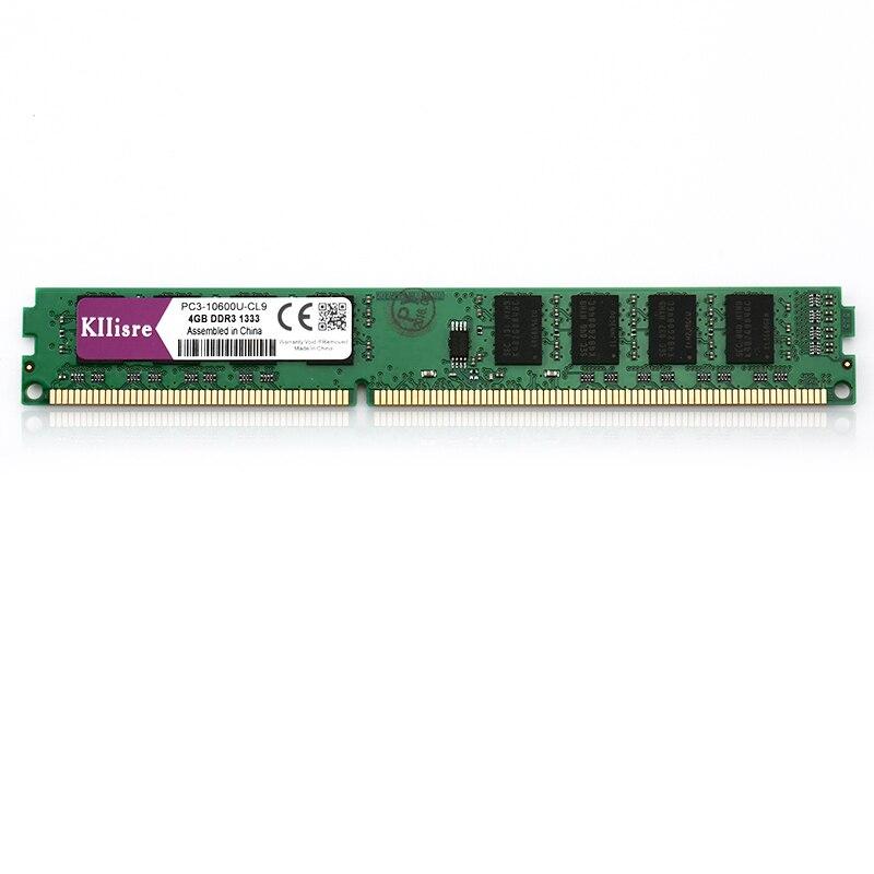 Kllisre ddr3 ram 4GB 1333 1600 MHz Desktop Memory non ECC Support socket font b 775