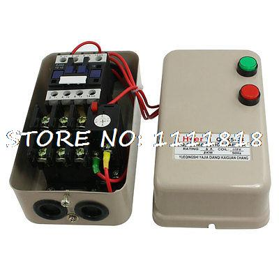цена на 4.5-7.2A 3 Phase AC Contactor Motor Control Magnetic Starter 110V Coil 3KW 4 HP