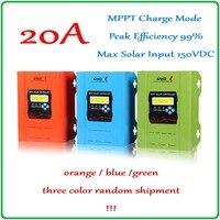 12 V 24 V 48 V 20A MPPT Sterownik Solarny do Max 150 V Wejście Panel słoneczny 1120 W mppt Regulator Baterii z Wyświetlaczem LCD CE ROHS SGS