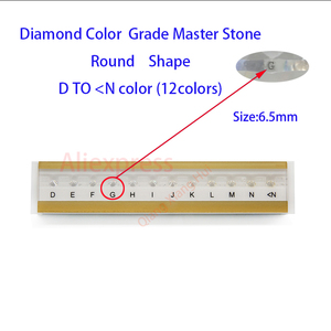 Image 2 - Specifications of  diamond standard cz master and D To M white Color round shape with laser Cubic Zirconia stone Tester Tools