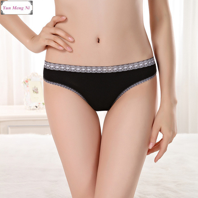 339ba79546b29 Free shipping 5pcs lot New Women s cotton panties Girl Briefs Ms. sexy lace bikini  panties briefs ladies hot models 86921