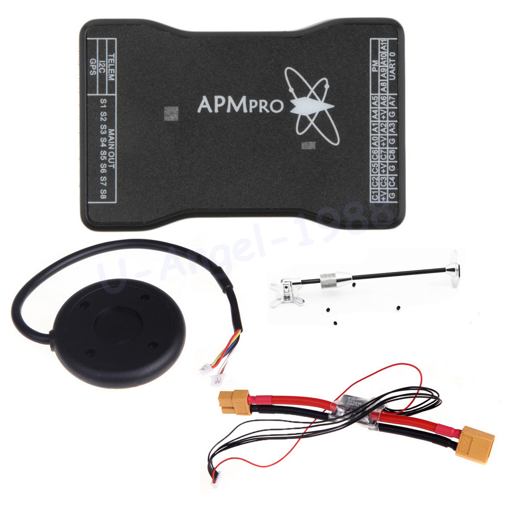 Ublox NEO 6M GPS Module + MINI APM PRO Flight Controller Board + Power Module XT60 plug for RC Quadcopter Helicopter Airplane ublox neo 6m gps module mini apm pro flight controller board power module xt60 plug for rc quadcopter helicopter airplane