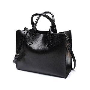 Image 4 - Tagdot Brand Large Tote bags PU leather Fashion Shoulder messenger bag women leather Handbag bags for women black blue pink 2018