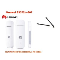 New Arrival Original Unlock HUAWEI E3372 E3372h 607 150Mbps 4G LTE USB Modem Dual Antenna Port Support All Band( plus antenna)