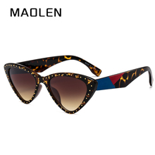 MAOLEN 2018 New Fashion Cute Sexy Ladies Cat Eye Sunglasses Women Vintage Brand Small Sun Glasses Female Oculos de sol UV400