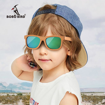BOBO BIRD Children Wooden Sunglasses