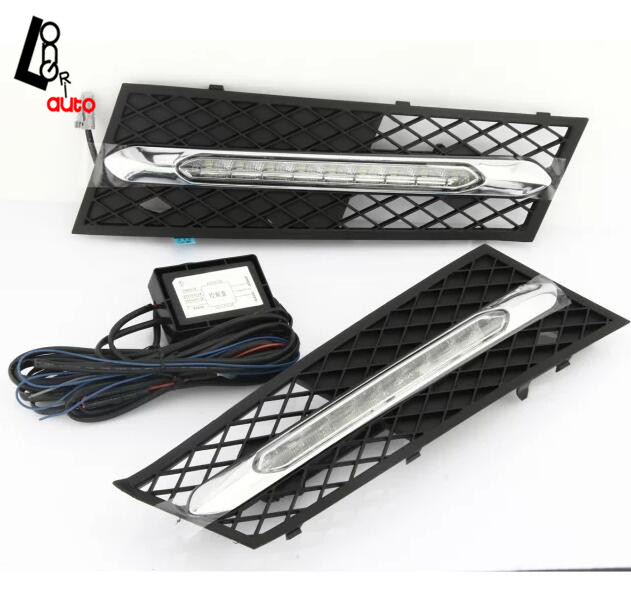 car styling Left&Right a set LED Daytime Running Lights For BMW 5 Series 2010-2013 car styling left