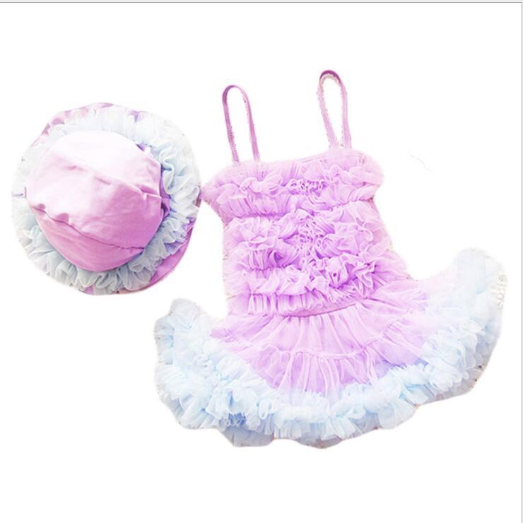 Bébé Fille Maillots De Bain 2018 Nouvelle Petite Fille Maillots de Bain Bikini de Haute qualité Enfants Maillots De Bain Mode Enfants Princesse Fille Maillot de bain dans Maillots de bain de Mère et Enfants
