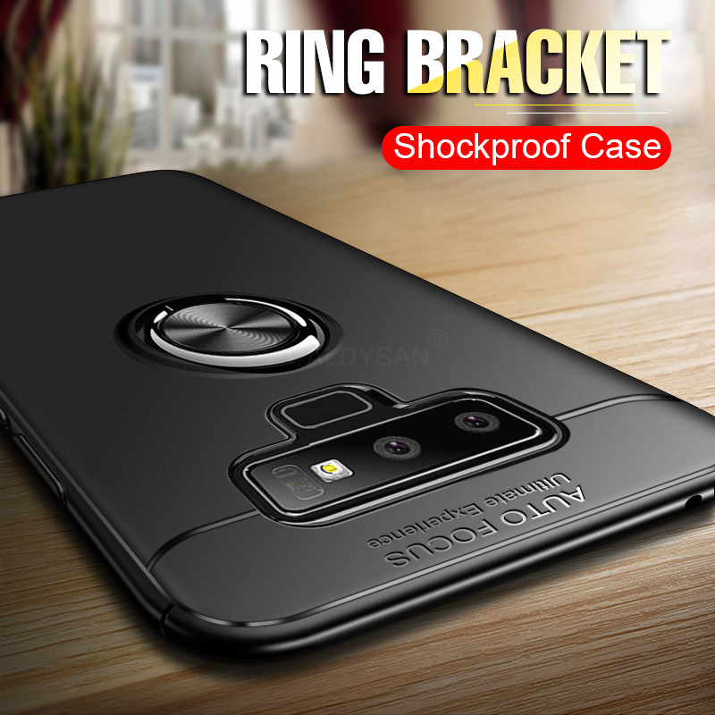 a97492d95 Luxury Bracket Ring Shockproof Case For Samsung Galaxy S8 S9 PLus Full Cover  For Samsung Note 8 9 TPU Soft Silicone Holder Cases