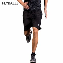 цены на Quick Dry Men Sports Running Shorts Active Training Exercise Jogging Soccer Tennis Workout GYM Breathable Shorts With Zip Pocket  в интернет-магазинах