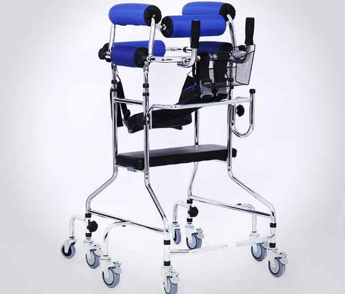 8 wheels Stable Elder helper Walking aids Rehabilitation walker rehab chair with seat recovery-equipment
