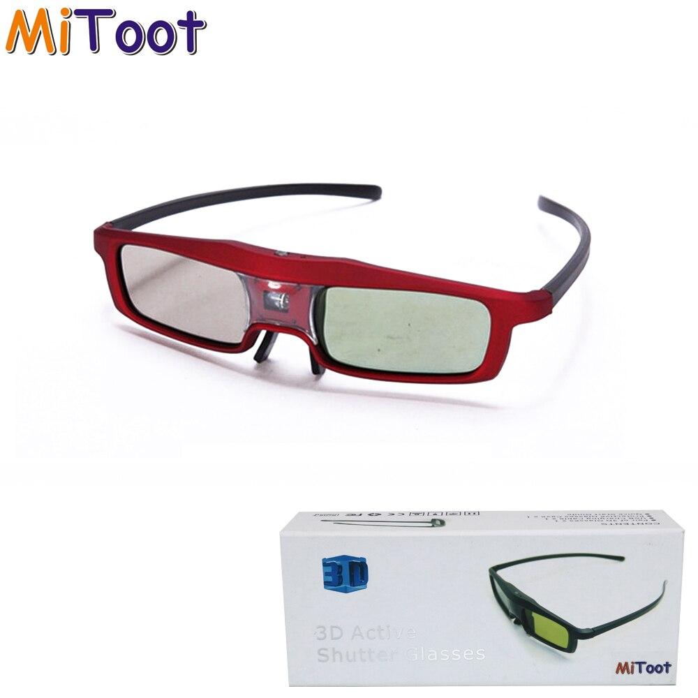 Óculos de Obturador Ativo 3D MiToot para Projetor DLP Xgimi 96 ~ 144Hz para BenQ Dell Sharp Z4X/H1 JMGO G1/GS1/P1