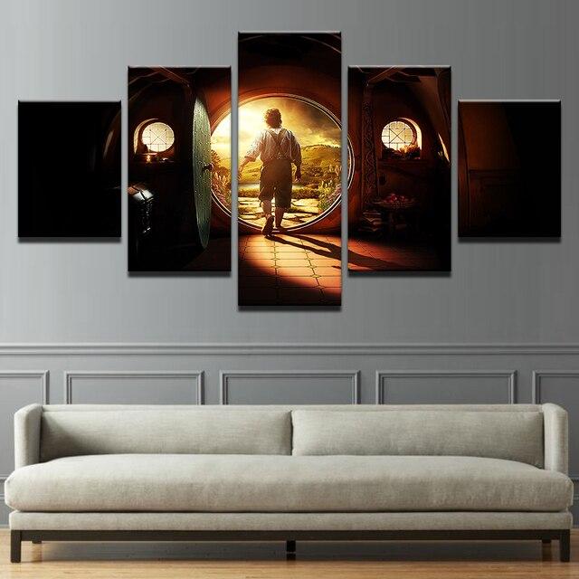 Quadri su tela Home Decor Wall Art 5 Pezzi Signore Degli Anelli ...
