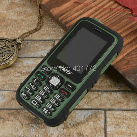 Real 4500mAh battery Power Bank Torch TV FM cell phones Vibration Dual SIM Shockproof mobile Phone