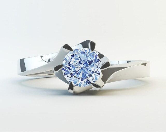 Six Claw Carat Zircon Wedding Rings 2