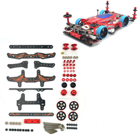 Self made MA/AR Chassis Modify Parts Set Carbon Fiber Plates Rollers Mass Damper for Tamiya Mini 4WD Racing Car Model 2017