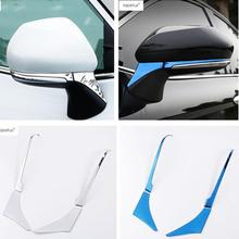 Lapetus Accessories Fit For Toyota Camry 2018 2019 Outside Car Door Rearview Mirror Below Strip Molding Cover Trim / 2 Colors