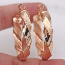 цены на Luxurious earrings Trendy Hoop Earrings for Women Gold Filled Women Pageant Earrings Fashion Jewelry Wedding accessories  в интернет-магазинах