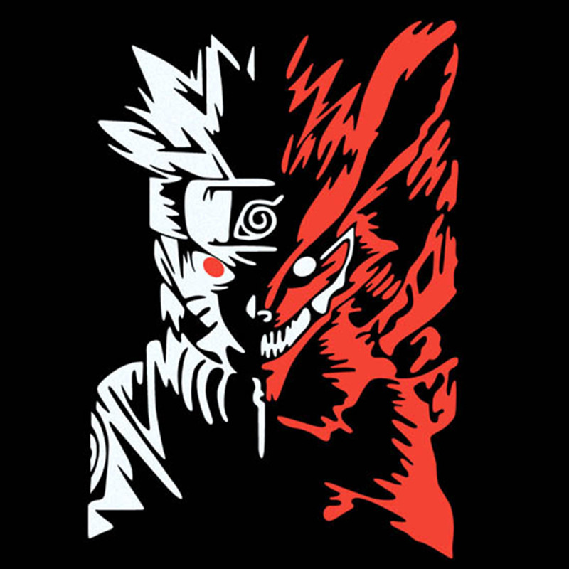 Car styling stickers funny anime Naruto 3d vinyl decals on