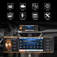 Золотой черный Авторадио 1 Din автомобильный Радио 4,1 MP5 Автомобильный плеер не сенсорный экран автомобильная стереосистема Bluetooth Авто радиокамера Android