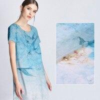 72cm positioning geese lotus ramie / silk linen fabric12m m silk fabric linen cloth skirt fashion fabric special wholesale