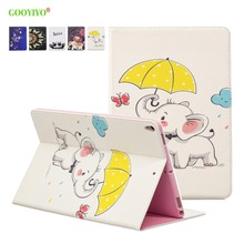 Купить с кэшбэком GOOYIYO - 2019 New Case For Apple iPad Pro 10.5 Tablet Leather  Smart Slim Cover Book Stand Shell With Wallet Card Holder Bag