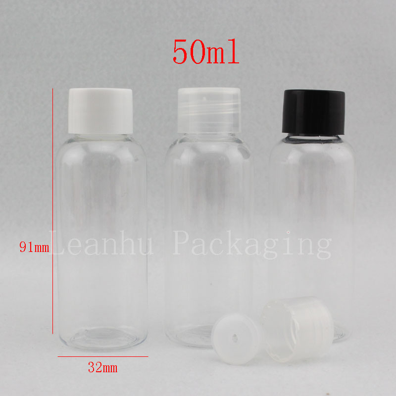 50ml X 100 empty transparent shampoo bottles travel set bottles for cosmetic packaging small vial Cosmetics